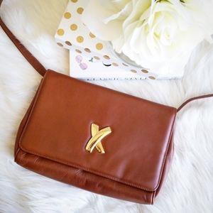 Paloma Picasso Tan X Crossbody Leather Bag